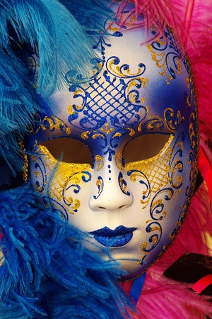 venice mask: Photo of a typical carnival mask in Venice Stock Photo
