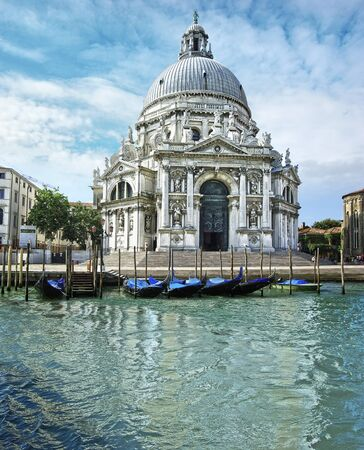 Traditional Venetian landscape with a canal  Venice, Italy photo