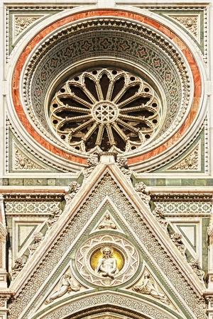 italian fresco: Details of Cattedrale di Santa Maria del Fiore, Florence