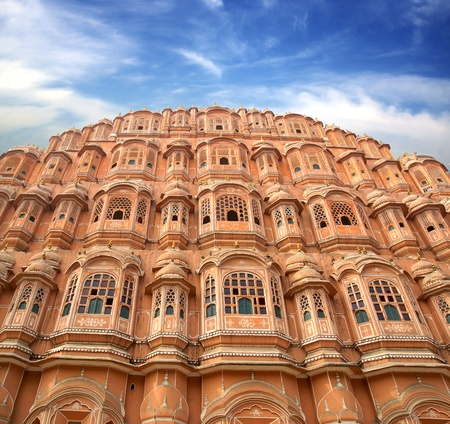 mahal: Hawa Mahal- Palace of Winds, Jaipur-pink city. India.