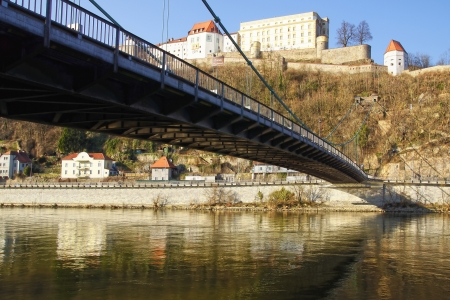 Panorama of Passau. City of Three Rivers. Germany photo