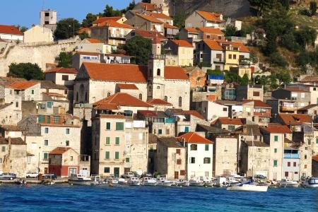 Picturesque landscape with  Sibenik old city, Croatia Stock Photo - 13658802