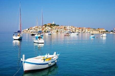 Picturesque landscape with  Primosten old city, Croatia