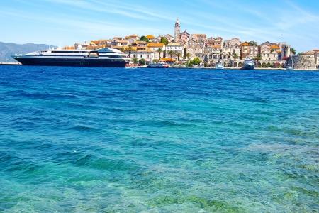 cruis: Picturesque sea landscape with Trogir city, Croatia
