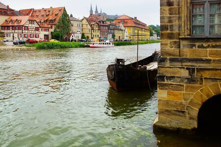 Picturesque landscape with river  Bamberg Bavaria Germany photo