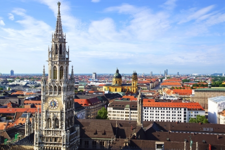 The panorama view of Munchen city centre  Munich, Germany Imagens