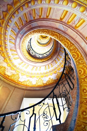 Imperial Stairs closeup in Melk Abbey, Austria
