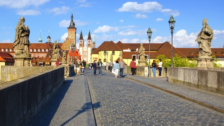 Landscape with Wurzburgs Old Main Bridge, Germany