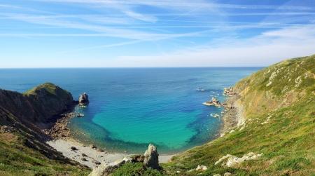 Picturesque seascape Nez de Jobourg Normandy, France