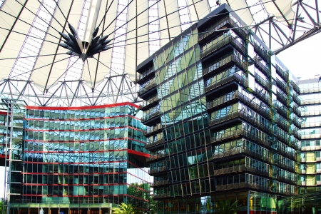 sony: Picturesque landscape with  the Sony Center, Berlin
