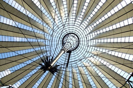 sony: Dome closeup of the Sony Center, Berlin
