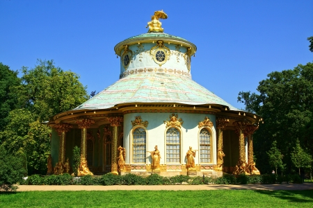 Chinese tea house in Sanssouci Palace in Potsdam.