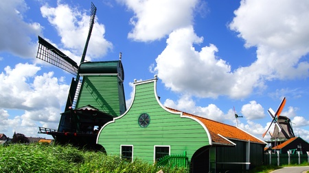 Picturesque rural landscape with windmills. Zaandijk, Netherlands Stock Photo - 14963469