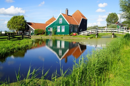 Picturesque rural landscape with typical Dutch houses. Stock Photo - 14963488