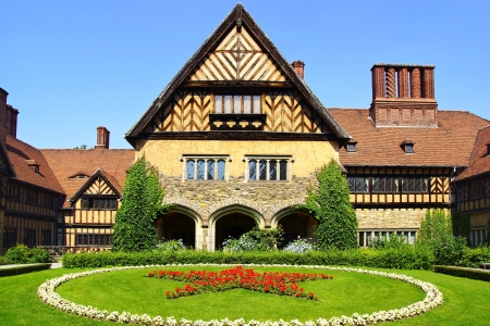 schloss: Picturesque landscape with Schloss Cecilienhof. Potsdam, Germany Editorial