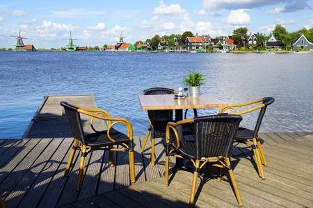 Picturesque landscape with windmills. Zaandijk, Netherlands Stock Photo - 14977689