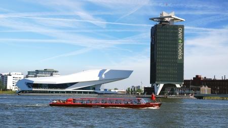 EYE Film Institute and Overhoeks Tower in Amsterdam.