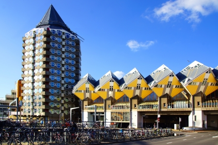 piet: Kubuswoningen, or Cube houses in Rotterdam, Holland