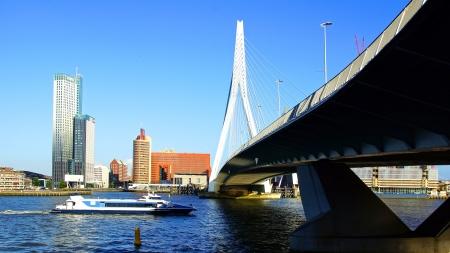 rotterdam: Picturesque landscape with modern architecture in Rotterdam