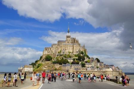 mont saint michel: The Mont Saint Michel abbey. Normandy, France.