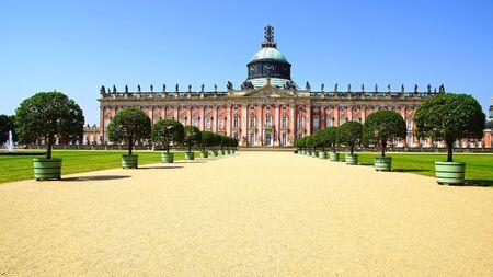 schloss: landscape with Sanssouci palace in Potsdam, Germany.