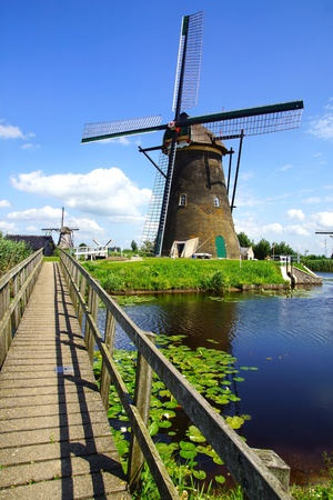 dutch windmill: Picturesque rural landscape with the windmills  Netherlands