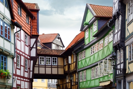 fachwerk: Old Fachwerk house in Wolfenbuttel.  Niedersachsen, Germany.