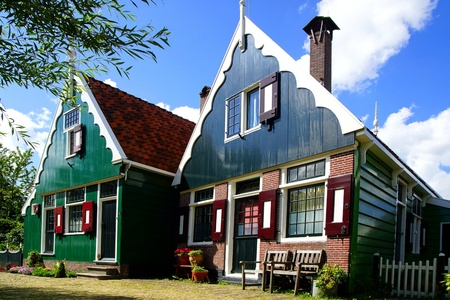 Picturesque rural landscape with typical Dutch houses. Stock Photo - 15246544