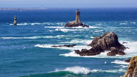 ポワントデュラズ岬 Sizun の灯台