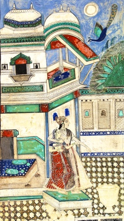 mughal: The decoration of the Bundi Palace  India