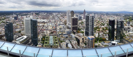 eurozone: View from the Maintower in Frankfurt am Main