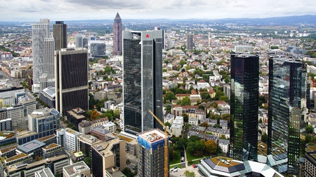 euro area: View from the Maintower in Frankfurt am Main