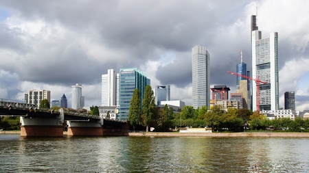 Picturesque panorama of Frankfurt am Main, Germany