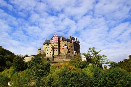 burg: Picturesque nature panorama with Burg Eltz, Germany