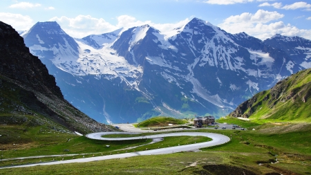 Grossglockner is a panoramic road in Austria