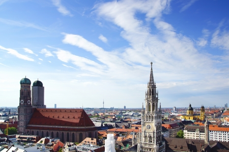 The panorama view of Munchen city centre. Munich, Germany Stock Photo
