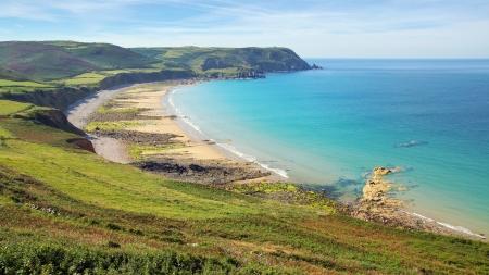 wilderness area: Picturesque seascape Nez de Jobourg Normandy, France