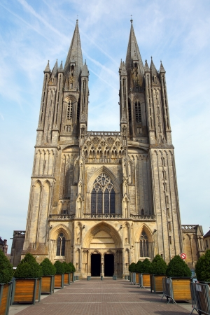 patrimony: The historic centre of Coutances. France, Normandy Stock Photo