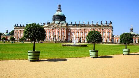 schloss: landscape with Sanssouci palace in Potsdam, Germany