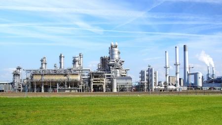 industria quimica: Refiner�a planta en Europort puerto de Rotterdam. Pa�ses Bajos