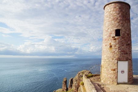 Panoramic view over Cap Frehel,  Brittany, France Stock Photo - 16146170