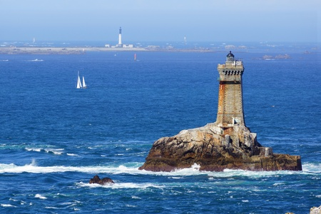 Lighthouse on Cape Sizun, Pointe du Raz  Brittany, France Stock Photo - 16146176