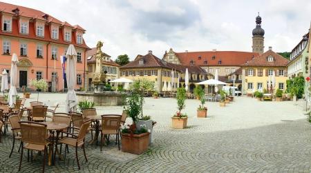 market place: The historic Weikersheim Market Place  Marktplatz   Germany