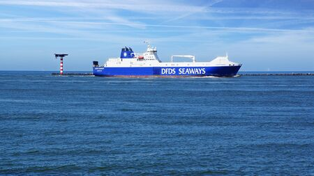 tonnage: DFDS Seaways Ship from the port of Rotterdam