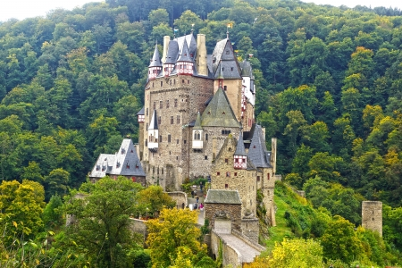 Picturesque nature panorama with Burg Eltz, Germany