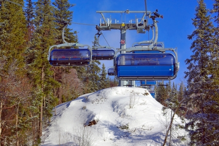 Empty chair lift Stock Photo - 16753692