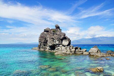 apo: Picturesque sea landscape  Apo island, Philippines