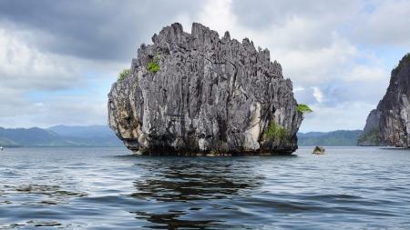 rock formation: Picturesque sea landscape  El Nido, Boracay island, Philippines Stock Photo