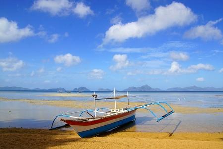 Boats at Corong corong beach. El Nido, Philippines photo