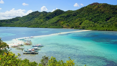 Picturesque sea landscape. Snake Island. El Nido, Philippines photo